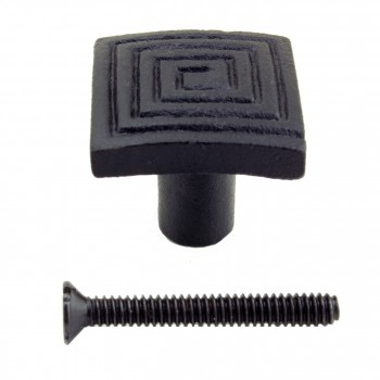 <PRE>Square Maze Cabinet Hardware Iron Cabinet Knob Black Pack of 2</PRE>zoom6