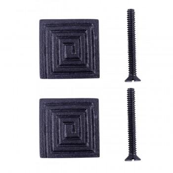 <PRE>Square Maze Cabinet Hardware Iron Cabinet Knob Black Pack of 2</PRE>