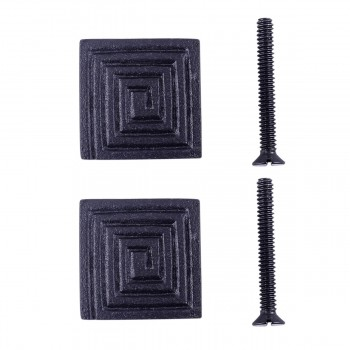 Square Maze Cabinet Hardware Iron Cabinet Knob Black Pack of 2 Cabinet Knob Iron Cabinet Knob Cabinet Hardware