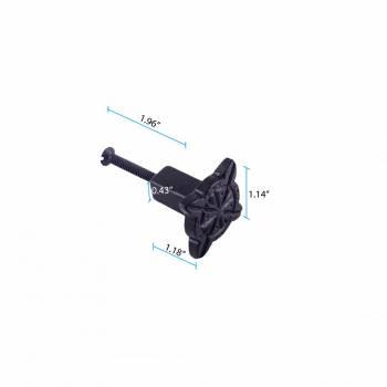 spec-<PRE>Iron Cabinet Knob Black Target Design Cabinet Hardware Pack of 2</PRE>