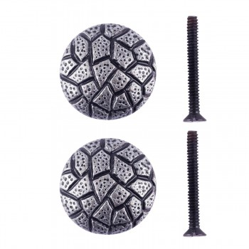 "<PRE>Round Cabinet Knob inchCobble Stone Design"" Iron Pewter Finish Pack of 2</PRE>zoom1"