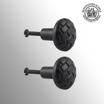 <PRE>Iron Cabinet Knob Black Round Brick Design Cabinet Hardware Pack of 2</PRE>zoom2