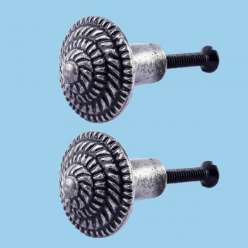 <PRE>Round Cabinet Knob inchFibonacci Design&quot; Iron Pewter Finish Pack of 2</PRE>zoom2