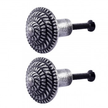 <PRE>Round Cabinet Knob inchFibonacci Design&quot; Iron Pewter Finish Pack of 2</PRE>zoom1
