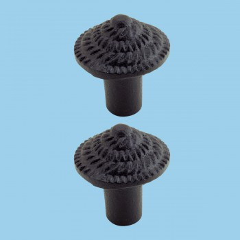 <PRE>Round Iron Cabinet Knob Black Fibonacci Design Cabinet Hardware Pack of 2</PRE>zoom2