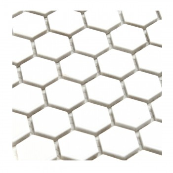 <PRE>Porcelain Mosaic Hexagon Glossy White Floor and Wall Tile, 1 Tile 10.25inch x 11.8&quot;</PRE>zoom2