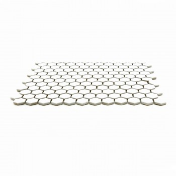 "<PRE>Porcelain Mosaic Hexagon Glossy White Floor and Wall Tile, 1 Tile 10.25inch x 11.8""</PRE>zoom3"