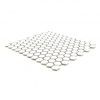 "<PRE>Porcelain Mosaic Hexagon Glossy White Floor and Wall Tile, 1 Tile 10.25inch x 11.8""</PRE>zoom5"