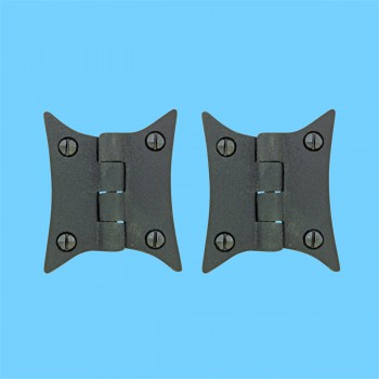 Cast Iron Butterfly Cabinet Hinge 3 38 H Pack of 2 Cast Iron Butterfly Cabinet Hinge 3 38 H Cabinet, Pantry Hinge Black Cast Iron