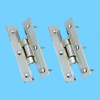 <PRE>3inch Chrome Flush Cabinet H Hinge Pack of 2 </PRE>zoom2