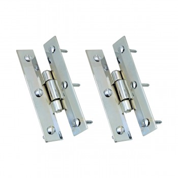 <PRE>3&quot; Chrome Flush Cabinet H Hinge Pack of 2 </PRE>