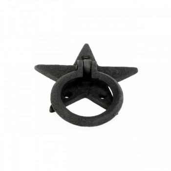 <PRE>Cabinet Drawer Ring Pull Black Iron Star Design Pack of 2</PRE>zoom3