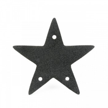 <PRE>Cabinet Drawer Ring Pull Black Iron Star Design Pack of 2</PRE>zoom6