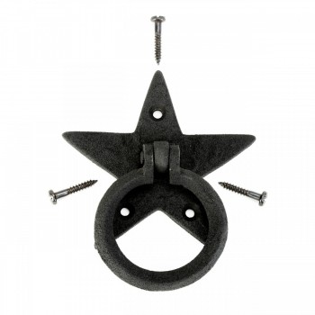 <PRE>Cabinet Drawer Ring Pull Black Iron Star Design Pack of 2</PRE>zoom8