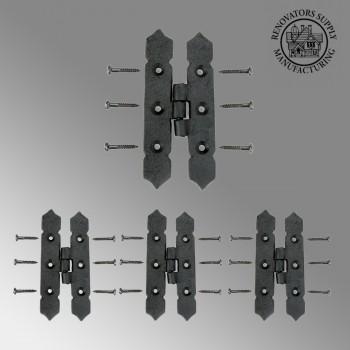 Cabinet H Hinge Black Iron Spear Tip 4 H Screws Included Set of 3 Iron Cabinet H Hinge Iron H Hinge Black Cabinet Hinge