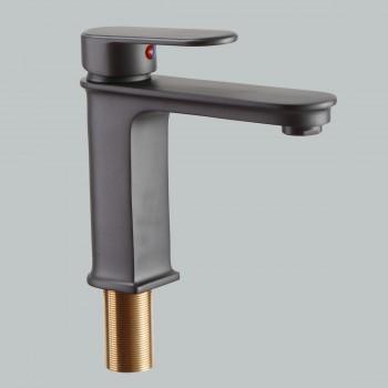 Modern Slate Single Hole Bathroom Faucet Single-Handle for Single-Hole or Drop-in Sinks