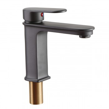 Bathroom Sink Faucet Solid Brass Gray ORB32417grid