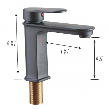 spec-<PRE>Modern Slate Single Hole Bathroom Faucet Single-Handle for Single-Hole or Drop-in Sinks</PRE>