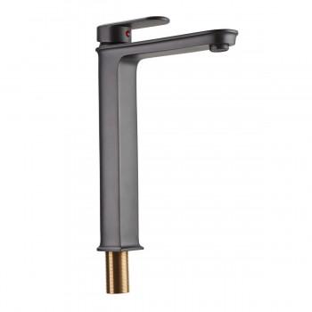 Gray Single Hole Bathroom Faucet Slate Design Tall 11 11/16