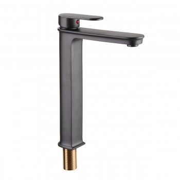 Gray Bathroom Sink Faucet Solid Brass ORB32418grid