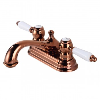 Centerset Rose Gold Bathroom Sink Faucet La Bella Design Includes Matching Drain32708grid