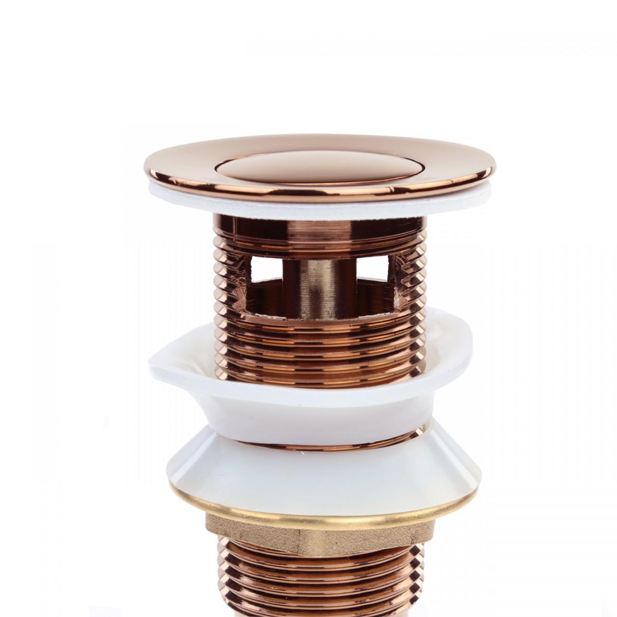 Rose Gold Bathroom Sink Drain Overflow Pop up PopUp Drains 1 34 Drain Opening 1 14 Standard Pipe