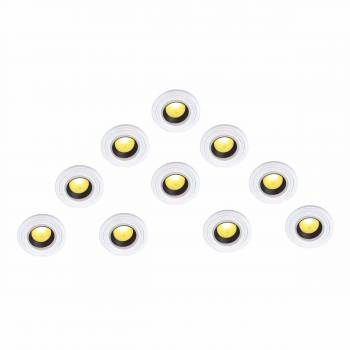 <PRE>10 Spotlight Trim Medallions White Urethane Set of 10 </PRE>zoom1