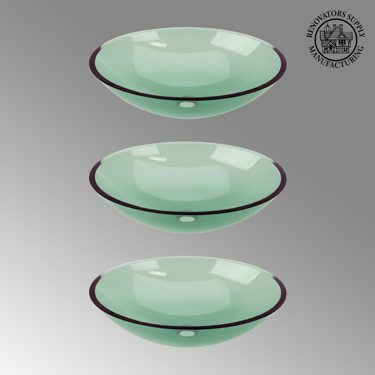 3 green glass vessel bathroom oval sink pop up in - Green glass vessel bathroom sinks ...
