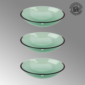<PRE>3 Green Glass Vessel Bathroom Oval Sink Pop-up In </PRE>zoom2