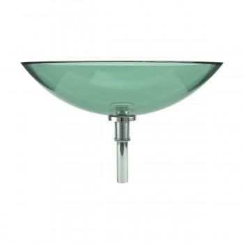 3 Green Glass Vessel Bathroom Oval Sink Popup In bathroom vessel sinks Countertop vessel sink Bathroom Vessel Sink