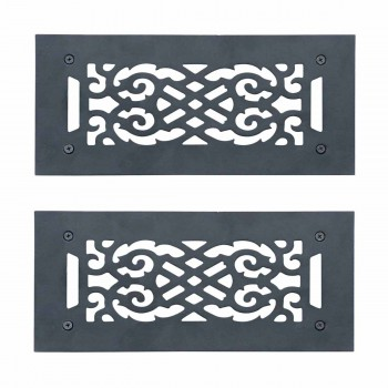 <PRE>2 Heat Air Grille Cast Victorian Overall 5 1/2 x 12 </PRE>