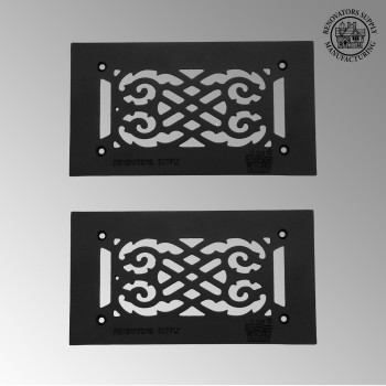<PRE>2 Heat Air Grille Cast Victorian 5.5&quot; x 10&quot; Overall </PRE>