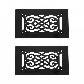 "<PRE>2 Heat Air Grille Cast Victorian 5.5inch x 10"" Overall </PRE>zoom1"