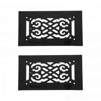 2 Heat Air Grille Cast Victorian 5.5 x 10 Overall Heat Register Floor Register Wall Registers