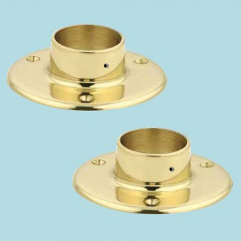 <PRE>2 Solid Brass 5inch Flange Fitting 2&quot; OD Bar Foot Rail </PRE>zoom2
