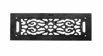 "<PRE>2 Grilles Black Cast Aluminum 5-1/2inch x 16"" Set of 2 </PRE>zoom3"