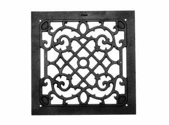 <PRE>2 Heat Air Grille Cast Victorian Overall 14 x 14 </PRE>