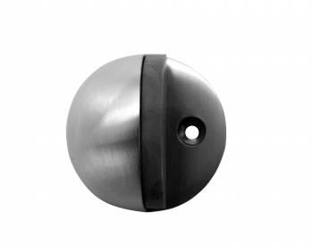Door Stop Satin Chrome Eclipse Bumper Black Pack of 2 Floor Stop Door Stop Door Bumper
