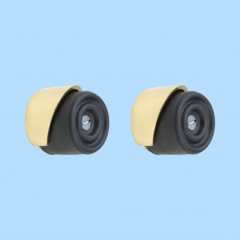spec-<PRE>2 Door Bumpers Round Black Brass Floor/Wall Mount </PRE>