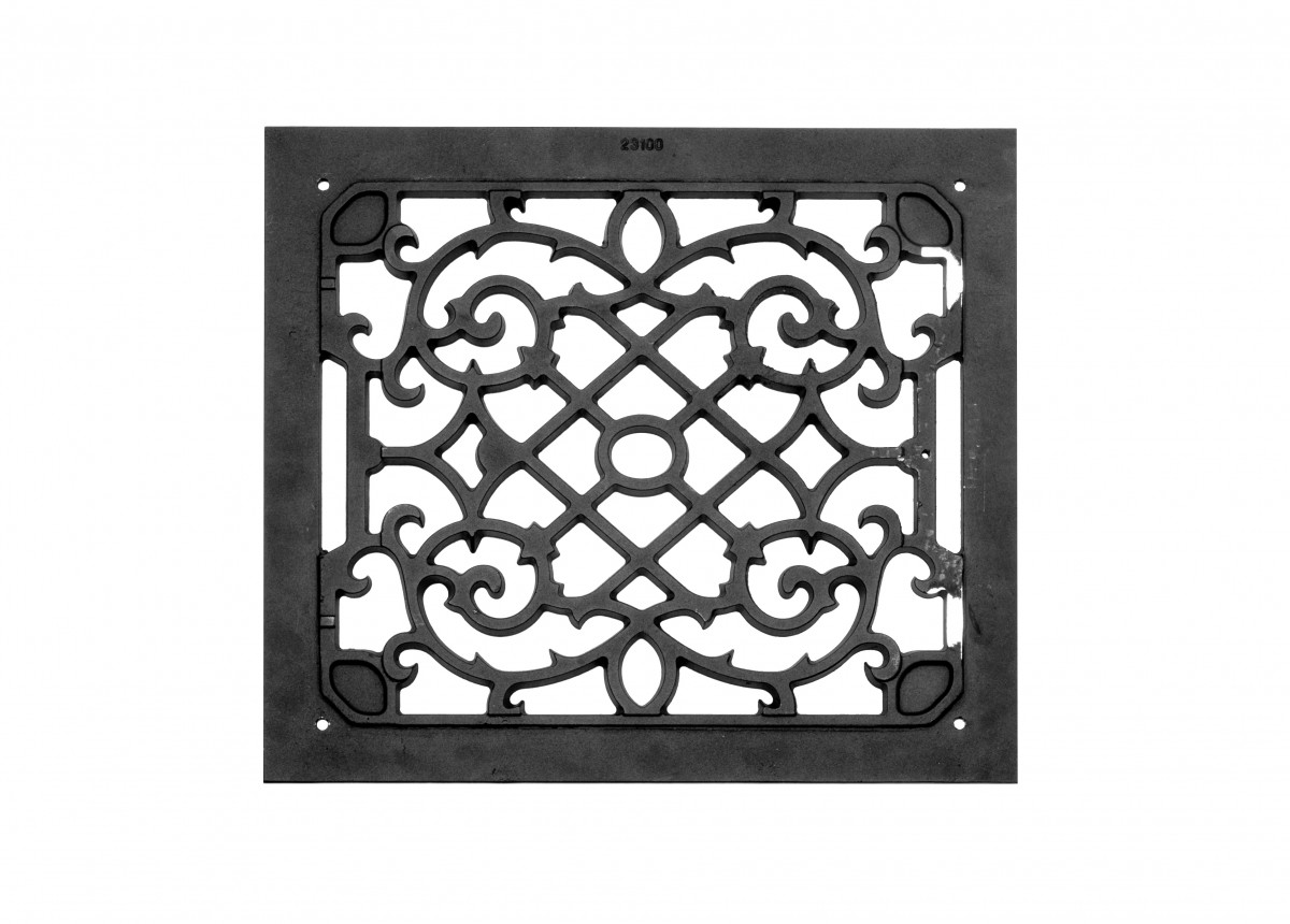 2 Air Grilles Black Cast Aluminum Rustproof Set of 2 Heat Register Floor Register Wall Registers