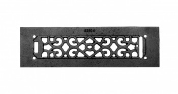 <PRE>2 Heat Air Grille Cast Victorian Overall 3 1/2 x 12 </PRE>zoom3