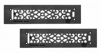 <PRE>2 Heat Air Grille Cast Victorian Overall 3 1/2 x 14 </PRE>zoom1