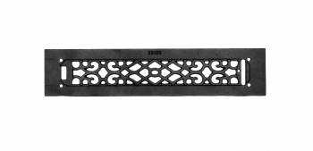 <PRE>2 Heat Air Grille Cast Victorian Overall 3 1/2 x 16 </PRE>zoom3
