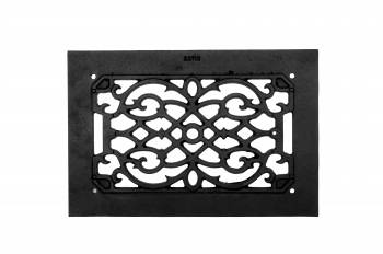 <PRE>2 Heat Air Grille Cast Victorian Overall 8 x 12 </PRE>