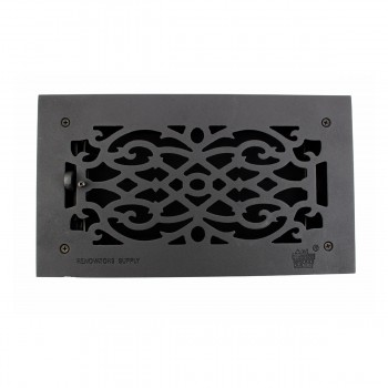"<PRE>2 Floor Heat Register Louver Vent Victorian Cast 6inch x 12"" Duct </PRE>zoom12"