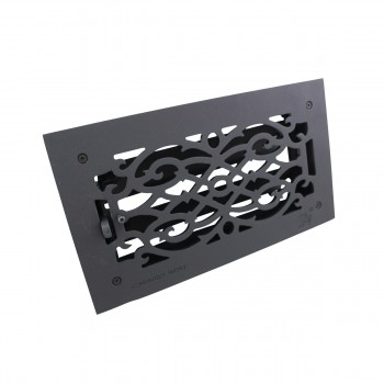 "<PRE>2 Floor Heat Register Louver Vent Victorian Cast 6inch x 12"" Duct </PRE>zoom8"