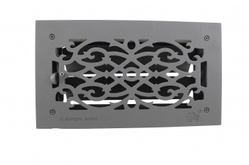 "<PRE>2 Floor Heat Register Louver Vent Victorian Cast 6inch x 12"" Duct </PRE>zoom7"
