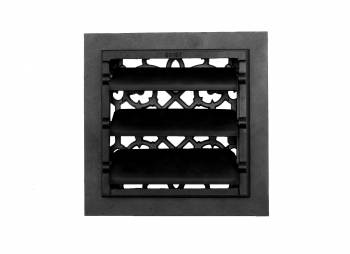 <PRE>2 Floor Heat Register Louver Vent Cast 8&quot; x 8&quot; Duct </PRE>