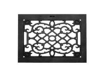 2 Heat Air Grille Cast Victorian Overall 10 x 14 Heat Register Floor Register Wall Registers