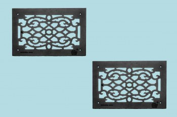 <PRE>2 Heat Air Grille Cast Victorian Overall 10&quot; x 16&quot; </PRE>